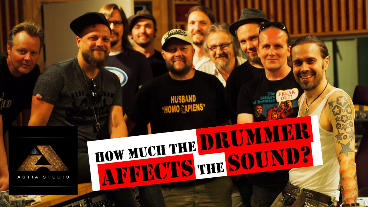 How much the drummer affects the sound