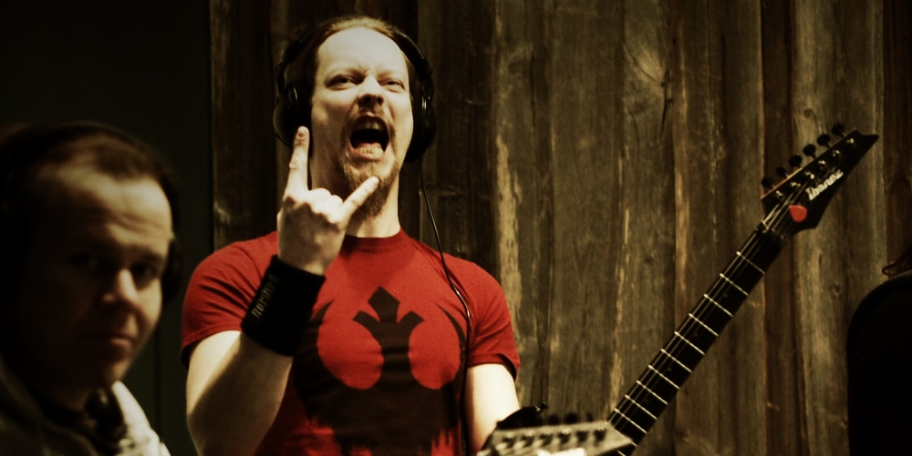 Petri Lindroos from Ensiferum in Astia-studio A.