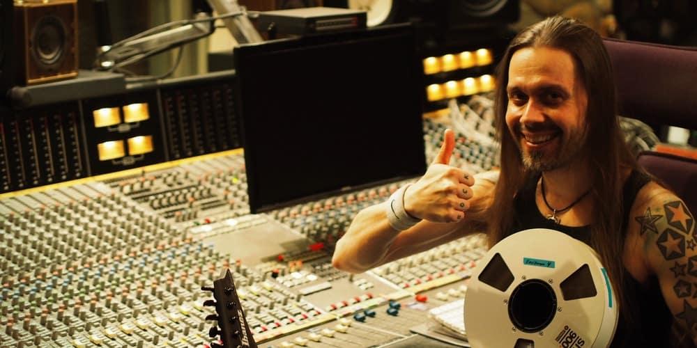 Anssi Kippo in Astia-studio A control room.
