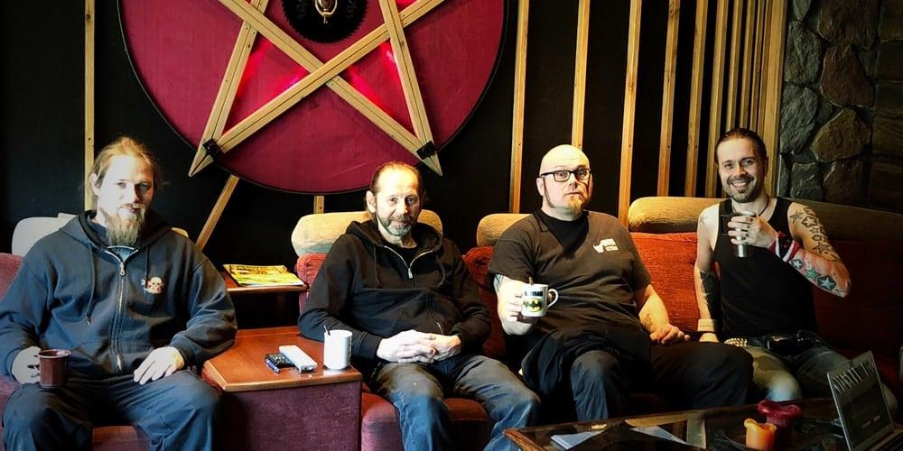 Ilari Heikkilä and The 69 Eyes live crew with Anssi Kippo