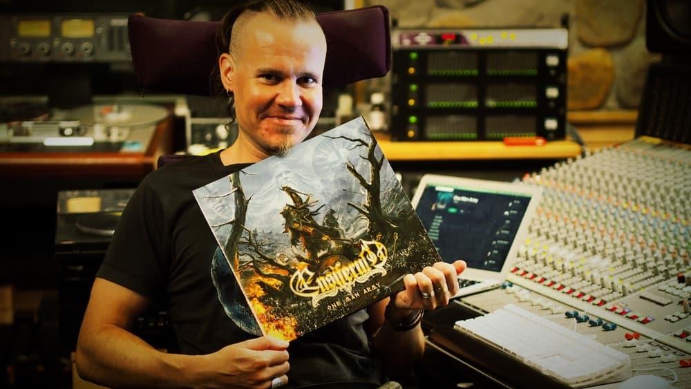Markus Toivonen from Ensiferum in Astia-studio A control room.