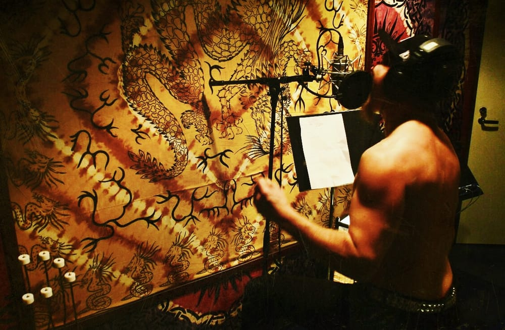 Jukka Pesu from The Rivet in Astia-studio vocal booth