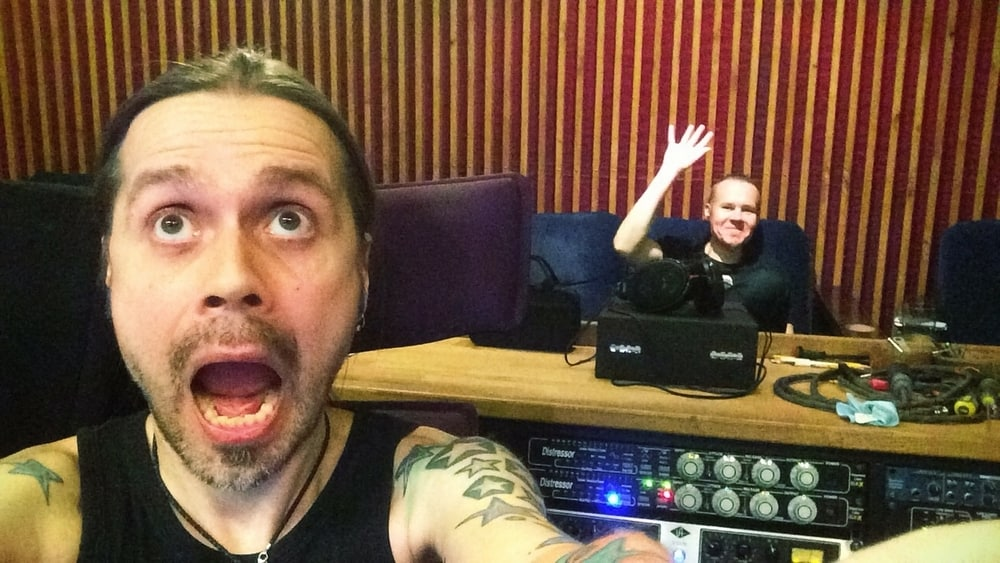 Anssi Kippo and Markus Toivonen mixing Ensiferum album Two Paths