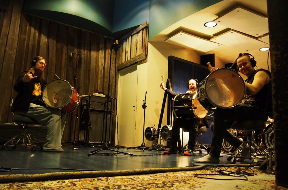 Ensiferum Two Paths percussion recording