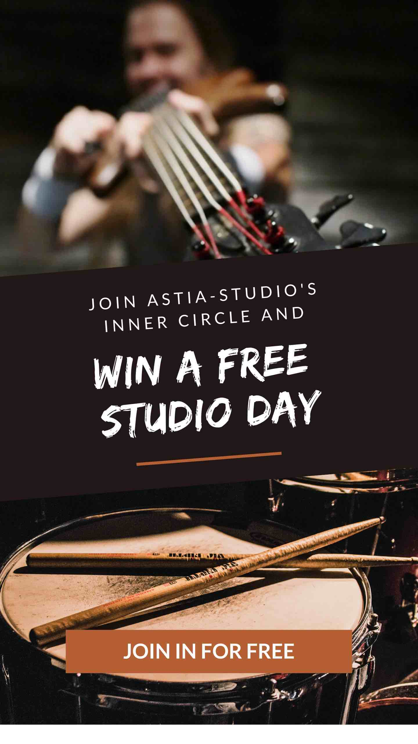 Win free studio day banner