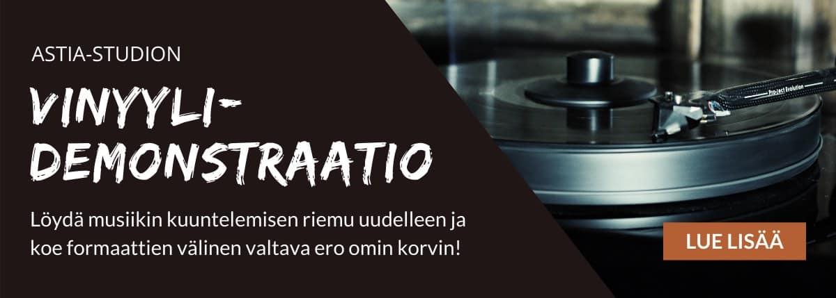 Vinyylidemonstraatio Astia-studiolla