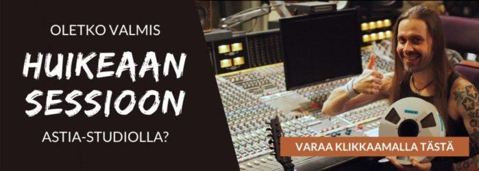 Varaa kelanauhasessio musiikkituottaja Anssi Kipon kanssa Astia-studiolla