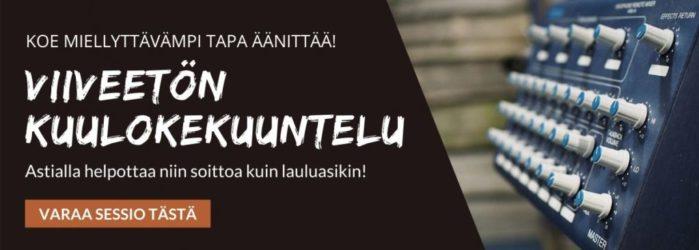 Kokemuksia Astia-studion viiveettömästä kuulokekuuntelusta