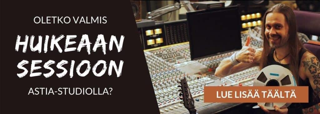 Oletko valmis huikeaan sessioon Astia-studiolla