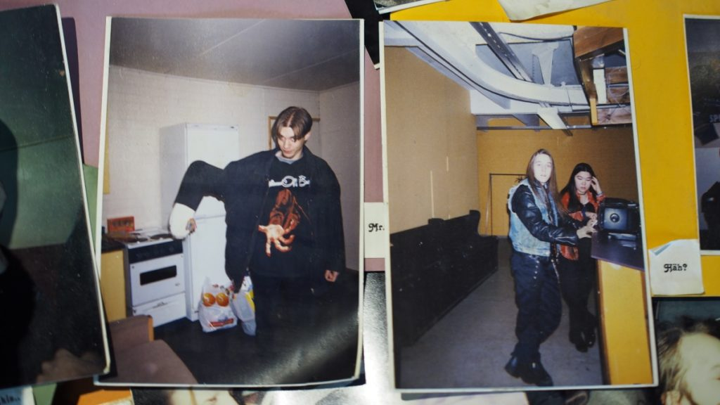 Hatebreeder –Janne Wirman, Alexi Laiho and Kimberly Goss at Astia-studio in 1998