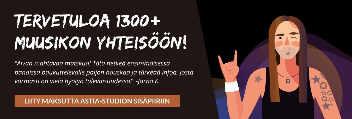 Tervetuloa 1300+ muusikon yhteisöön