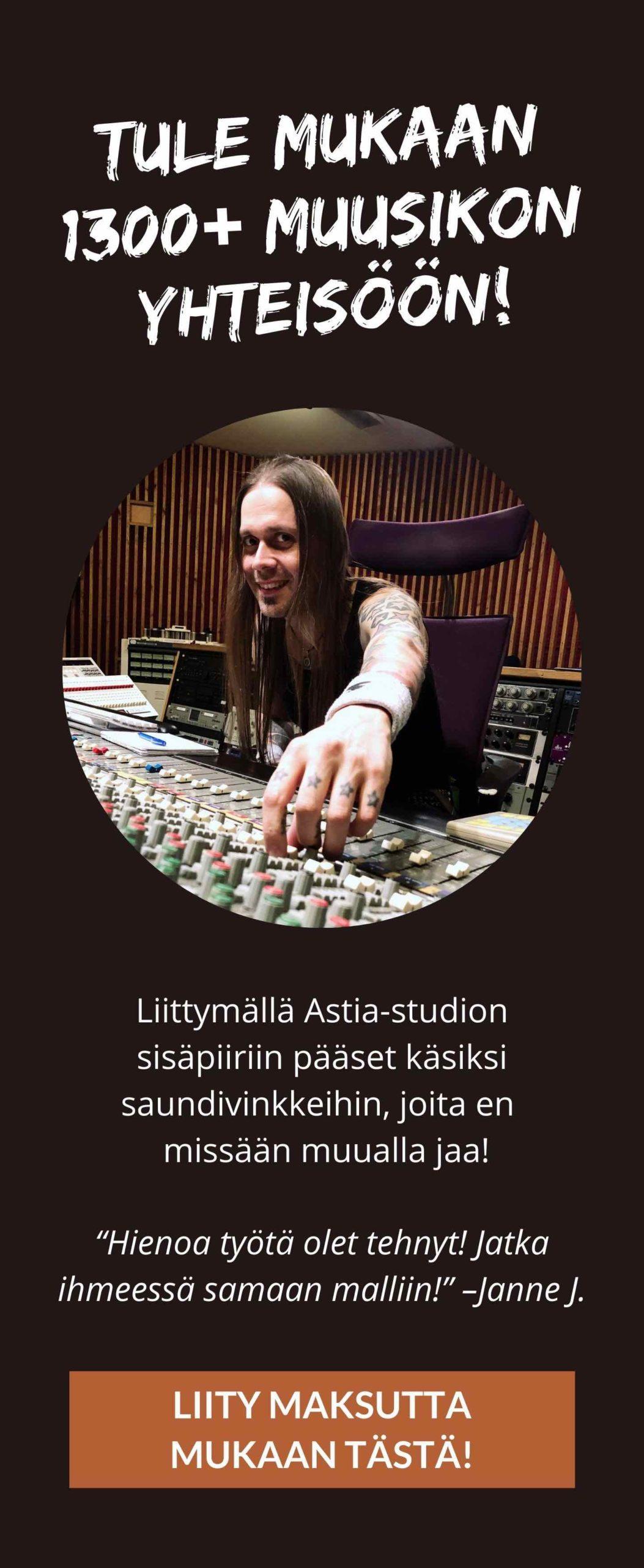 Liity Astia-studion sisäpiiriin